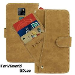 На Алиэкспресс купить чехол для смартфона vintage leather wallet vkworld sd200 case 6.3дюйм. flip luxury card slots cover magnet phone protective cases bags