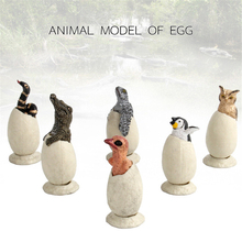 6Pcs/Set Semi Hatched Animal Egg Model Toy Detachable Garage Kids Removable Animal Egg Models Turtle Penguin Doll For Kids Gift the sheep who hatched an egg