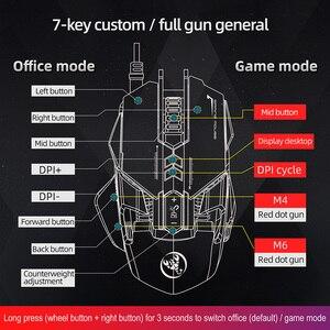 Image 5 - RGB Metal fare oyun aydınlatmalı mekanik kablolu fare 7 tuşları 6400DPI ayarlanabilir çözünürlüklü oyun fare oyun fare PC Laptop için