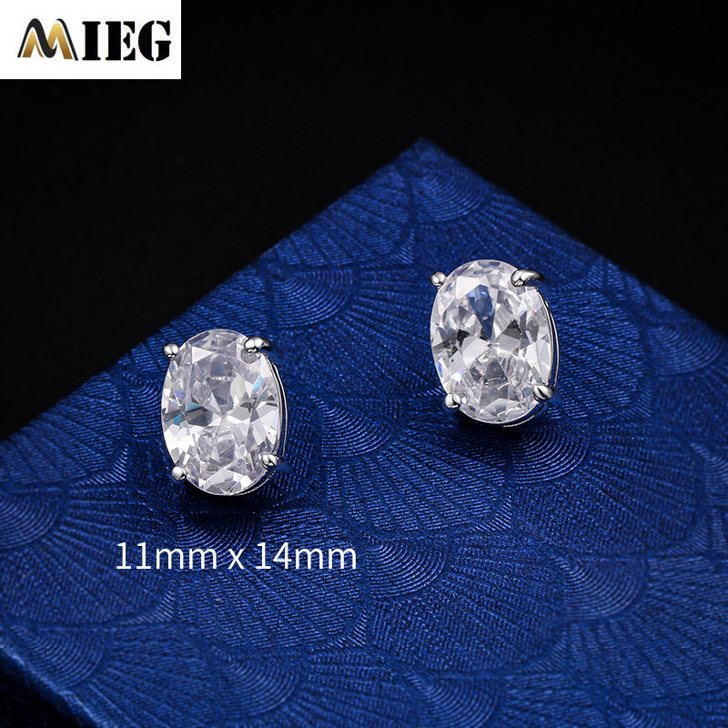 MIEG 2020 Clear Waterdrop Crystal Cubic Zirconia Studs Earrings For Women Jewelry Accessories