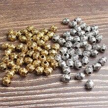 6mm 45pcs Small and long column DIY men women bracelet necklace ankle Accessories wholesale