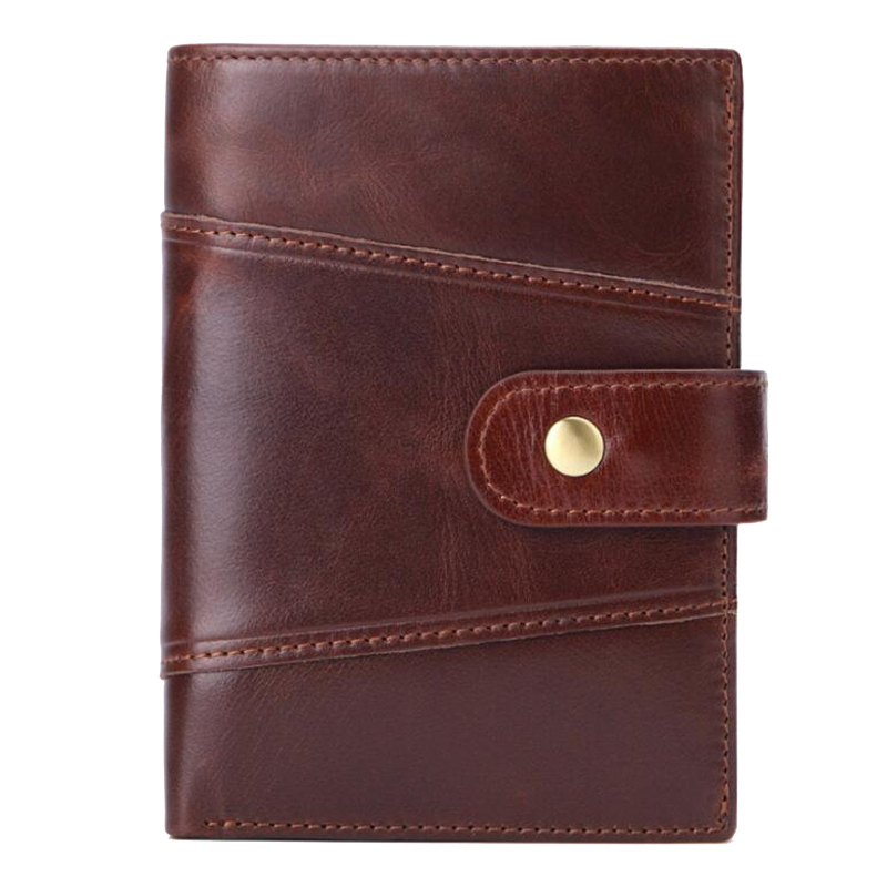 Western Genuine Leather Patchwork Many Card Holder Men Wallet Fashion Large Capacity Cow Purse