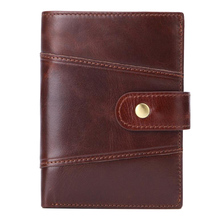Western Genuine Leather Patchwork Many Card Holder Men Wallet Fashion Large Capacity Cow Leather Men Purse недорого