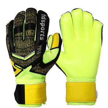 Nowi mężczyźni profesjonalna piłka nożna bramkarz Glvoes pełna lateksowa Finger Save Guard Protection dorośli Futebol piłka nożna rękawice bramkarskie tanie i dobre opinie NoEnName_Null CN (pochodzenie) Latex finger save guard soccer gloves