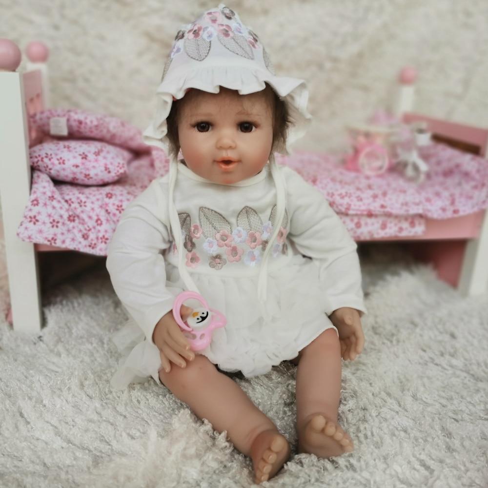 OtardDDolls Reborn 20 50CM bebe bebe Weiche Silikon Reborn Baby Puppen Vinyl Spielzeug Puppen Für Mädchen Alten Baby puppen Mit Rosa Tuch