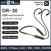 Kabel do aktualizacji Bluetooth do układu Qualcomm QCC3034 AptxHD do Shure mmcx SE215 0.78 2pin Ie80 A2DC IE40PRO słuchawki hi fi ZSN PRO