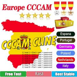 2021 The Most Stable Cccams for Europe Spain 7 line Cccam Satellite tv Receiver 7 Clines WIFI FULL HD DVB-S2 Support Ccams