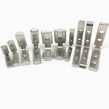 50pcs/lot T Slot L-Shape 2020 Aluminum Profile Interior Corner Connector Joint Bracket for 2020 Alu-profile (with M4 screws)