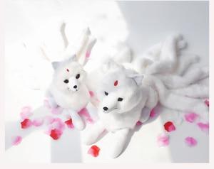 Image 2 - Super Nette Weiche Weiß Rot Neun Tails Fox Plüsch Spielzeug Kuscheltiere Neun Tailed Fox Kyuubi Kitsune Puppen Kreative geschenke für Mädchen