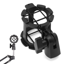 NB04 Bearable Handheld Condenser Microphone Shock Mount Clip Mic Holder Stand 77UB