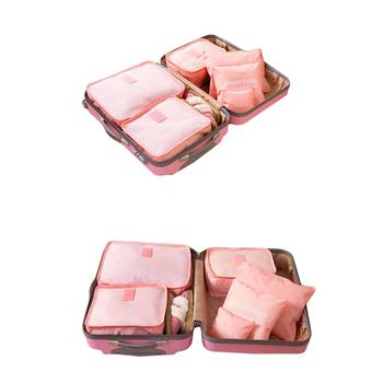 6 wodoodporne torby podróżne walizki ubrania bielizna torby do przechowywania podróżne torby do przechowywania odzieży torba do przechowywania bagażu tanie i dobre opinie Poliester