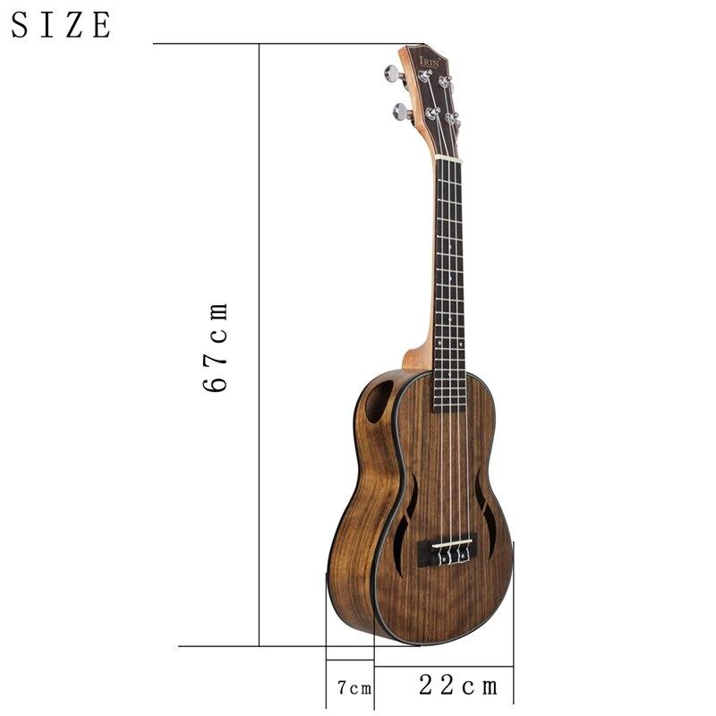 Irin ténor ukulélé Kits 26 pouces noyer bois 18 frette guitare acoustique Ukelele sac Capo sangle acajou cou Hawaii 4 cordes Guitarra - 5