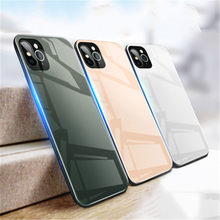 2019 Baru Detik Perubahan iPhone 11 iPhone 11 Pro Case Gradient Kaca Tempered Mobile Phone Case untuk iPhone XR X 6 7 8 PLUS(China)