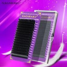 NAGARAKU גבוהה איכות פו מינק ריס הרחבות ריסים בודדים ריסים מלאכותיים J B C D רך וטבעי ריסים