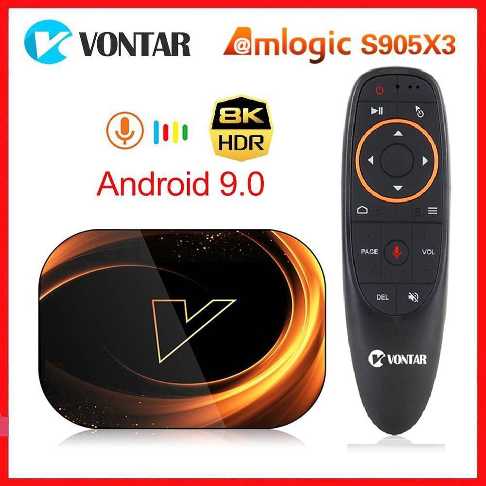Vontar X3 Amlogic S905X3 Android 9,0 ТВ коробка 4 Гб Оперативная память 64 Гб Встроенная память 32G 128 ГБ смарт-8K Декодер каналов кабельного телевидения 1000 м дву...