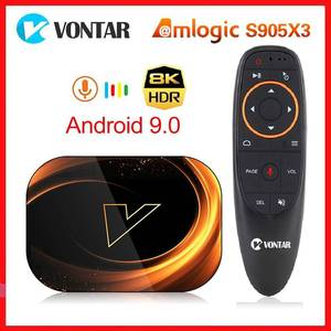 Image 1 - Vontar X3 Amlogic S905X3 Android 9.0 TV Box 4GB RAM 64GB ROM 32G 128GB Smart 8K décodeur 1000M double Wifi TVBOX Youtube