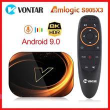 Vontar x3 amlogic s905x3 android 9.0 caixa de tv 4gb ram 64gb rom 32g 128gb smart 8k definir caixa superior 1000m duplo wifi tvbox youtube