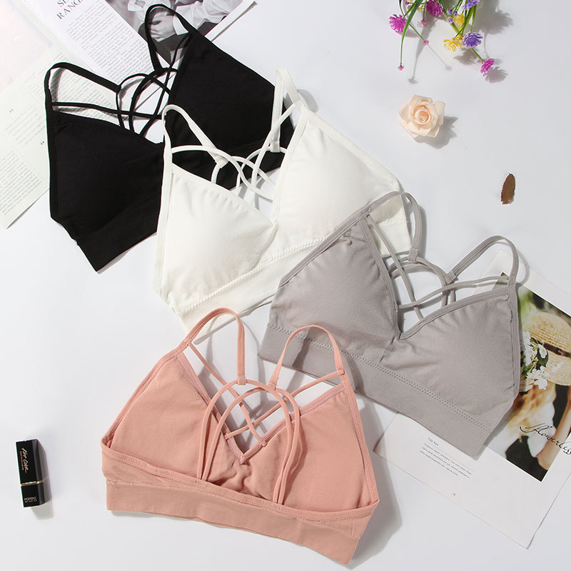 Women Bra Tube Top Female Sports Fitness Top Bandeau Underwear Seamless Bras Padded Wrapped Chest Female Crop Top