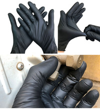 50/100pcs Black Disposable Gloves Latex Dishwashing/Kitchen/Work/Rubber/Garden Gloves Universal For Left and Right Hand