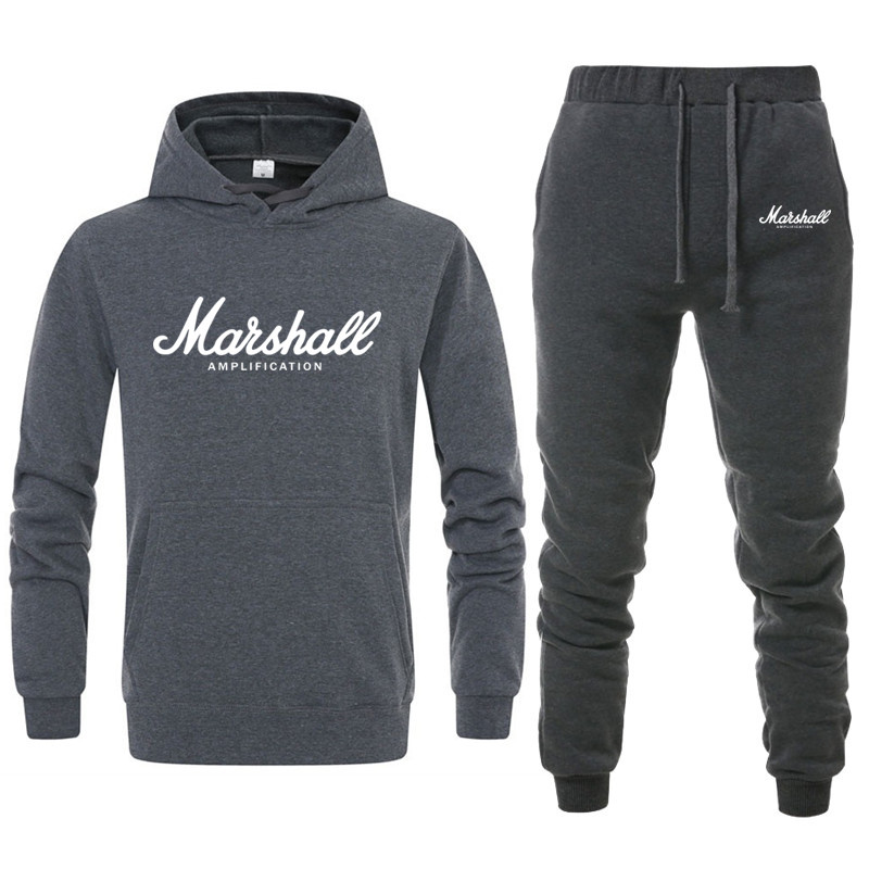 2019 New Marshall  Men/women Lovers Hoodie Marshall  Suit  Mens Casual Sports Fitness Suit Cotton Autumn/winter Warm Hoodeds Xxl