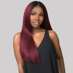 370 Human Hair Wigs 1B 99J Burgundy Lace Front Human Hair Wigs Wine Red 13*6 Straight Deep Part Wig Ombre Peruvian Remy
