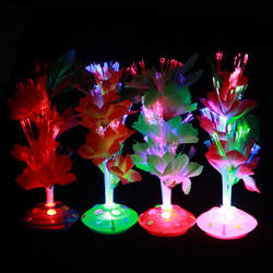 Творческие подарки оптического волокна цветок shan guang hua Цвет Фул автоматический Цвет изменение товары для дома декоративный цветок ночи мА