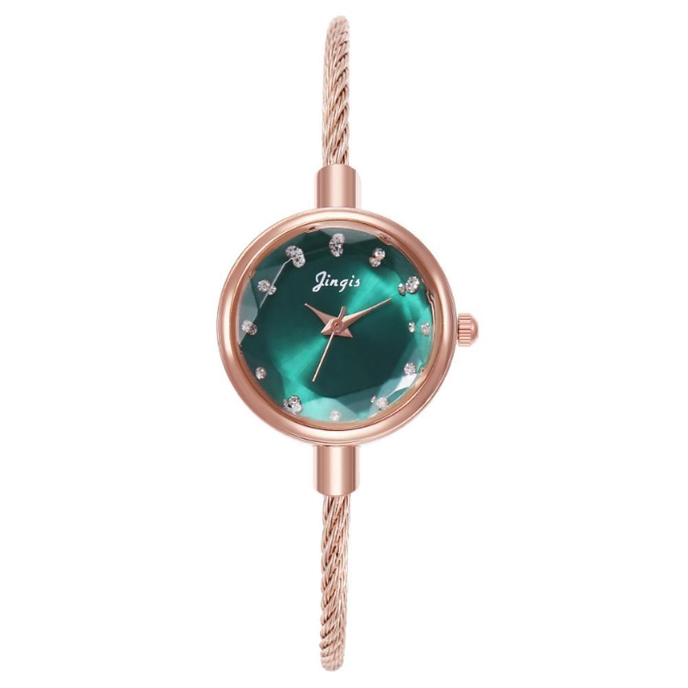 Women Watch Bracelet Alloy Retro Style Small Fresh Student Ultra Thin Luxury Women Bracelet Wristwatch Clock Relojes Para Mujer