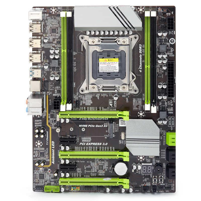 Atermiter X79 Turbo placa base LGA2011 ATX combos E5 1660 C2 (4 Uds x 8GB), 32GB 1600Mhz PC3 12800R PCI-E NVME M.2 SSD USB3.0