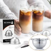 Stainless Steel Reusable Nespresso Capsule Permanent Coffee Pod Holder For Nespresso Machines