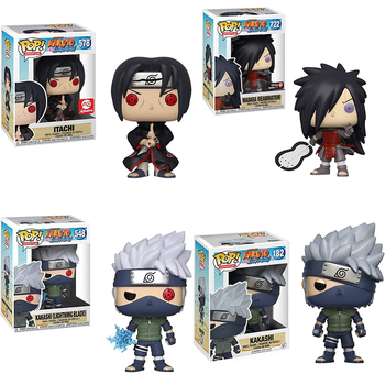 Funko POP Madara #722 Kakashi #548 Itachi #578 collection Vinyl Dolls Figure Model Toys For Children Christmas Gifts