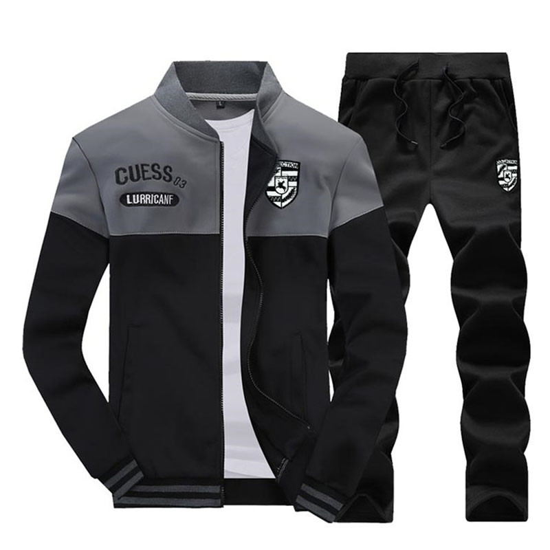 2019 Spring Suit Men's New Sportswear Autumn Suit Clothing Sportswear Men's Zipper Sweatshirt + Sports Pants Men's Sports Suit