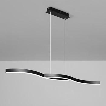 Minimalism modern led pendant lights for dining room kitchen black/white aluminum Pendant lamp suspension luminaire lustre led