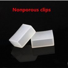 цена на Wholesale 100pcs Silicon clip,Nonporous end caps use for 5050 3528 WS2813 ws2801 ws2811 ws2812b waterproof led strip light