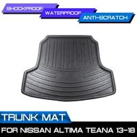 Car Floor Mat Carpet For Nissan Altima Teana 2013 2014 2015 2016 2017 2018 Rear Trunk Anti mud Cover|Floor Mats|   -