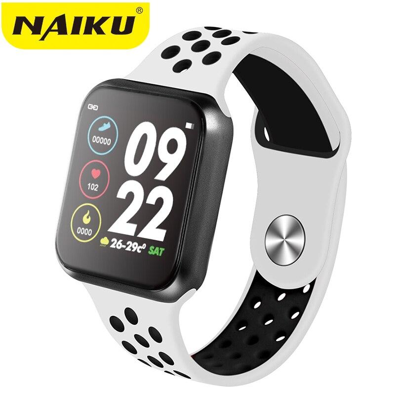 Reloj deportivo inteligente NAIKU F9 IP67 a prueba de agua, ritmo cardíaco, pantalla completamente táctil, reloj inteligente para Apple Android PK F8 w34 iwo 8 Reloj inteligente I5 para mujeres/hombres Monitor de ritmo cardíaco Seguimiento de la presión arterial Bluetooth reloj inteligente para mujeres para Apple Watch Andriod