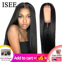 ISEE HAIR Wig Human-Hair-Wigs Lace-Frontal Straight 150%Density 13X4/13X6 Malaysian Remy-360