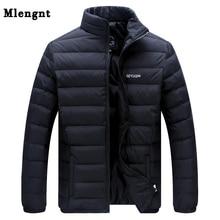 Большой размер, белый утиный пух, мужская зимняя куртка, Сверхлегкий пуховик, повседневная верхняя одежда, теплая зимняя куртка с меховым воротником, Брендовое пальто, парки