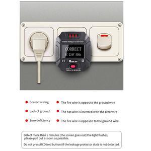 Image 2 - TOOLTOP ET89 détecteur de prise Portable affichage numérique testeur de prise électrique testeur de câblage de fréquence de tension Test RCD ue/US