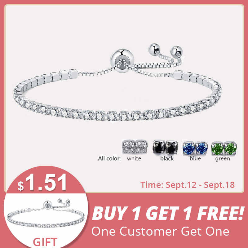 UMODE 4 Colors Fashion Cubic Zirconia Tennis Bracelet & Bangles For Women Gifts New Luxury  Armbanden Voor Vrouwen Bijoux UB0124