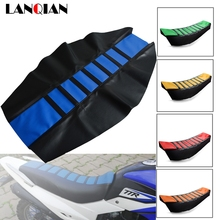 Motorcycle Seat Cover dirtbike Rubber Striped Soft seat cover For Yamaha YZ WR TTR XT DT 80 85 125 230 250 426 450 600 F FX X new motorcycle rear brake disc rotor for yamaha wr yz 125 250 f250 426 hrd gs 97 250 d20