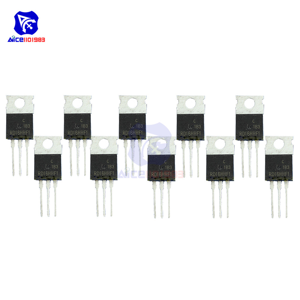 diymore 10 PCS/Lot IC Chips RD16HHF1 3 Pin TO-220 Mosfet Transistor 30 <font><b>MHz</b></font> High Quality Integrated Circuit image