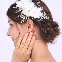 Artsy White Flower Headwear Handmade Headdress Wedding Bridal Accessories Charm Elegant