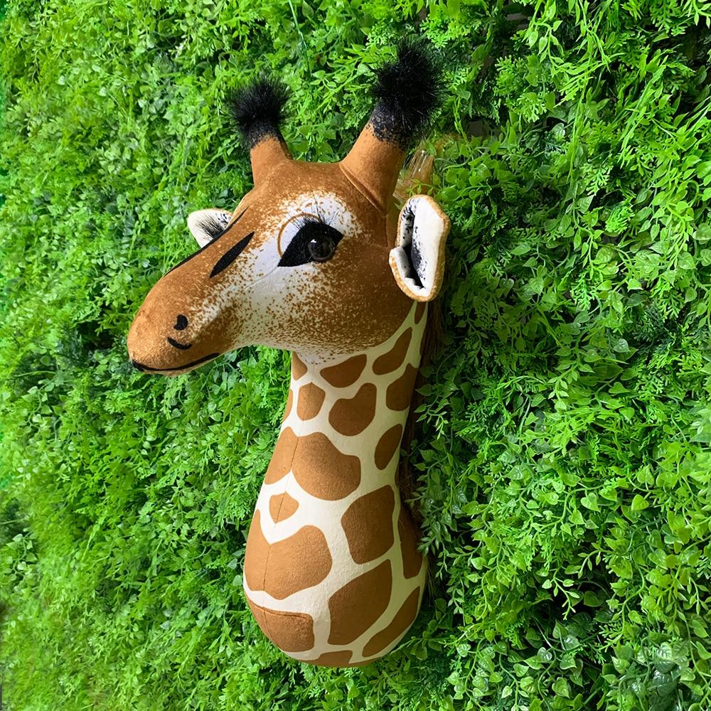 2021 güzel zürafa hayvan kafası duvar dekorasyonu için gerçekçi zürafa kafa doldurulmuş hayvan duvar asılı