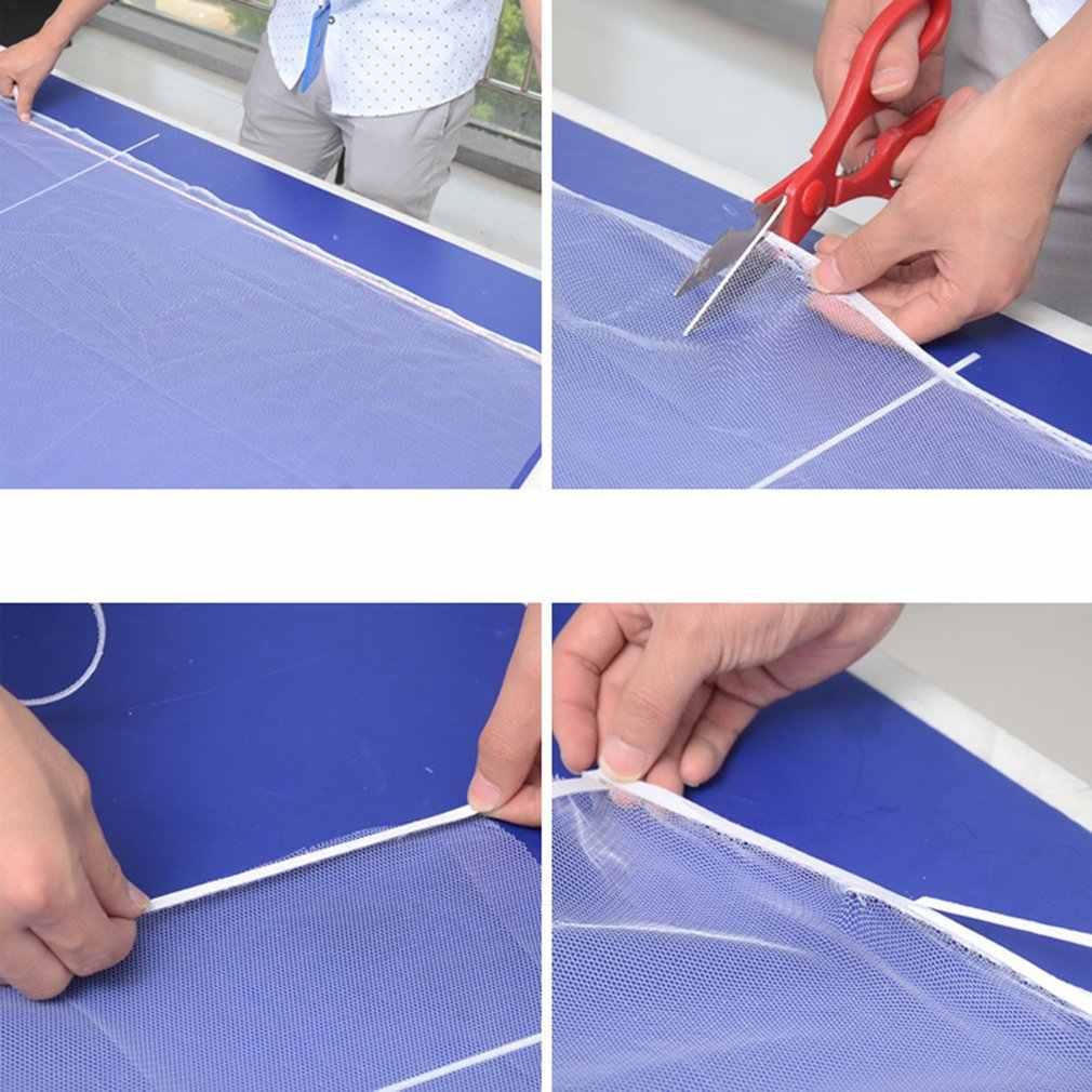 Auto-adhésif noir et blanc moustiquaires/bricolage moustiquaires/gaze Invisible Simple écrans avec Velcro