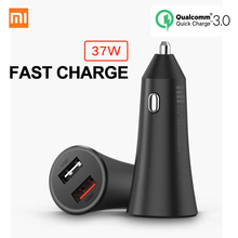 Original Xiaomi Car Charger 37W Fast Charge Mi Car Charger Dual USB Quick Charge Adapter For iPhone iPad Samsung Huawei Sony LG