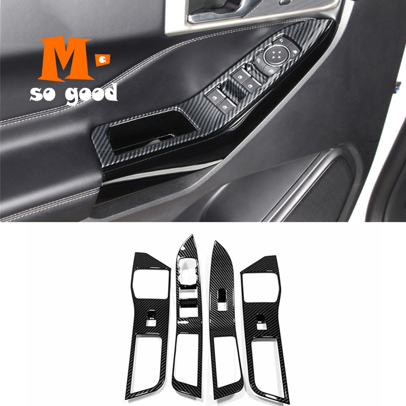 ABS Carbon Fiber Drive Mode Adjustment Switch Cover Trim for Ford ...