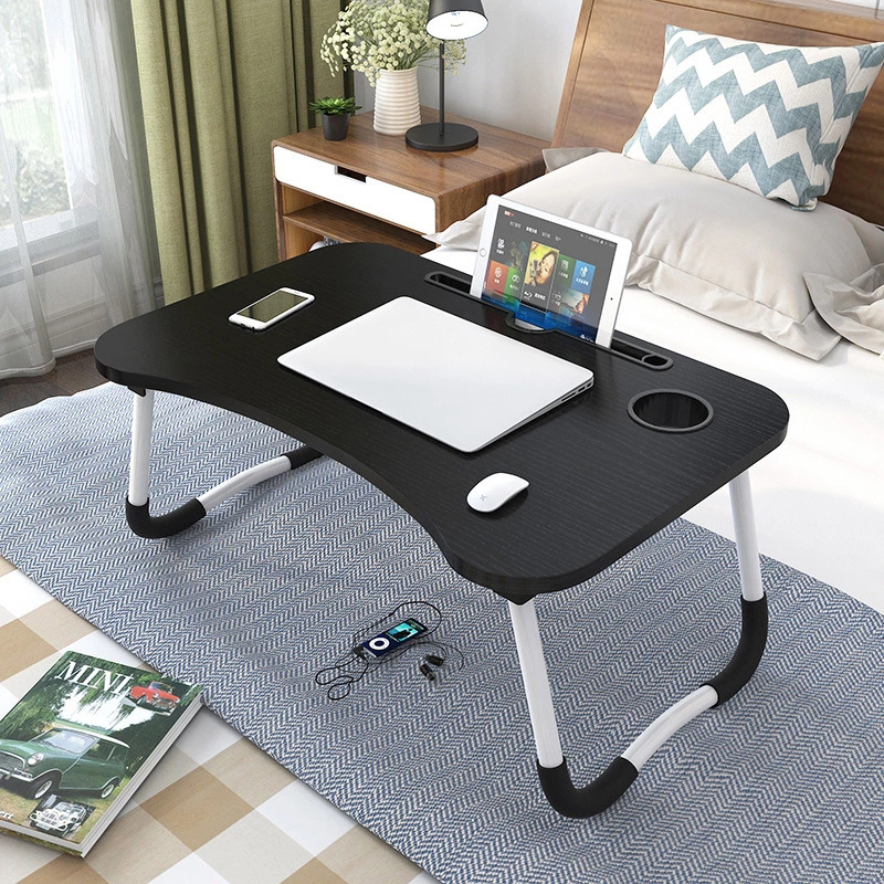 <font><b>Portable</b></font> Laptop Desk Home Foldable Laptop <font><b>Table</b></font> <font><b>Notebook</b></font> Study Laptop Stand Desk for Bed & Sofa Computer <font><b>Table</b></font> with Folding Legs image
