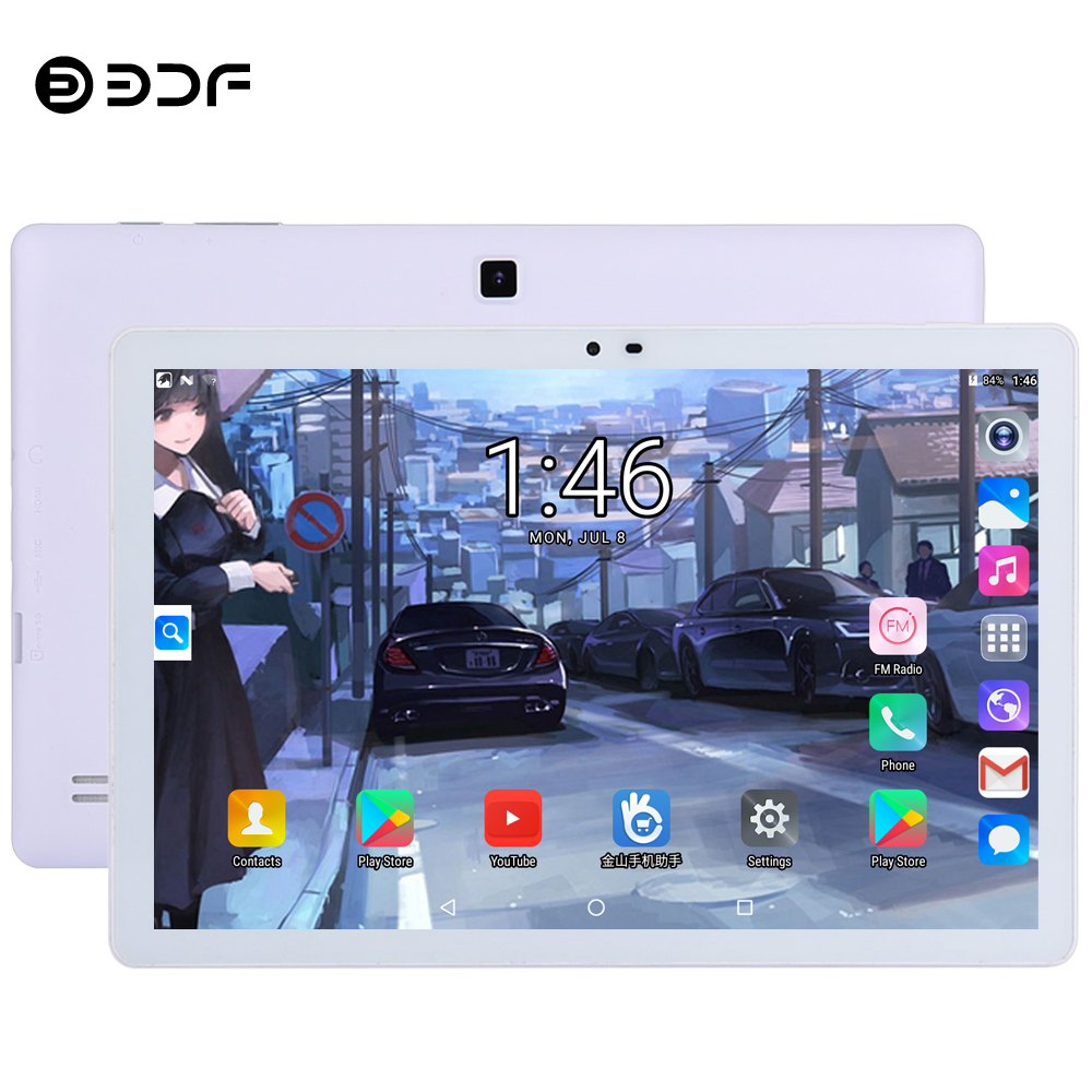 BDF 2019 New 10.1 Inch Quad Core Android 5.0 Tablet Pc 1GB+16GB/32GB IPS Tablet Support Bluetooth WiFi Tablets 7 8 9 10 10.1 Tab