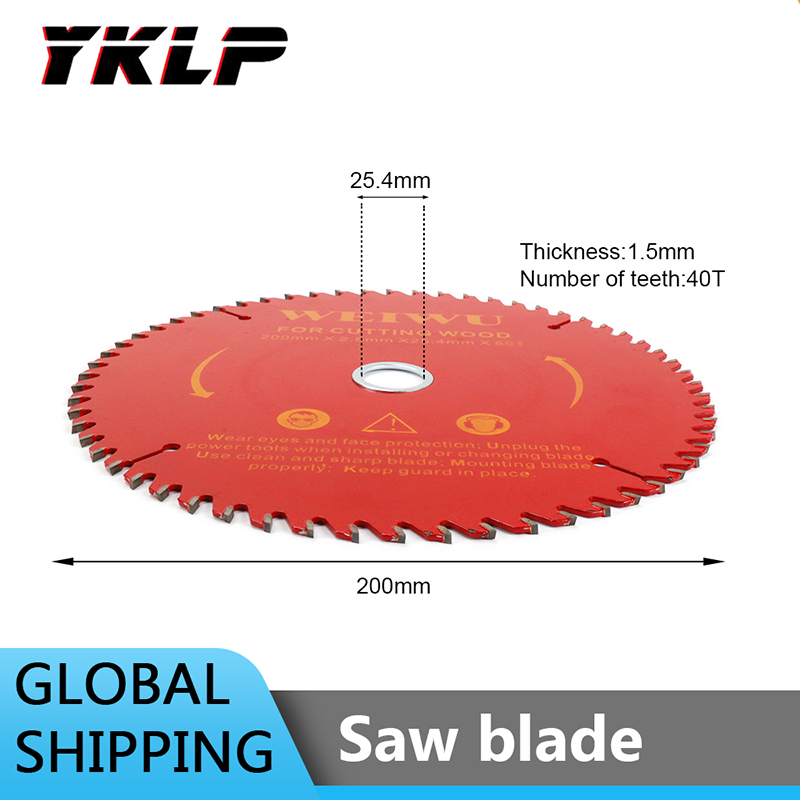 8Inch  200mm  Carbide Tip Tooth Circular Saw Blade Wood Cutting Disc For Woodworking Cutter 40/60/80Teeth