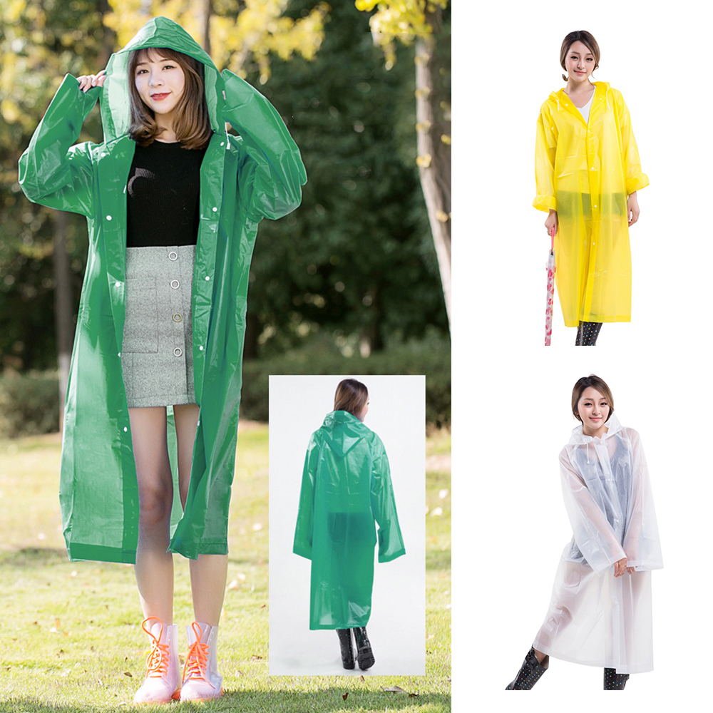Transparent Raincoat Outdoor Camping Raincoat Suit Adult  Waterproof Clothes